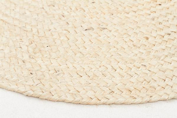 Round Jute Natural Rug Bleached 240x240cm
