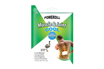 Glimlife Poweroll Muscle & Joint Patch Cool x 3 Pack
