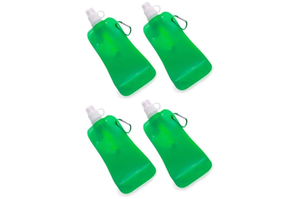 4x Doozie 450ml Collapsible Camping Water Drink Bottle Gym Sport BPA Free Green