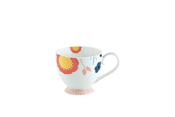 Anna Gare Elsie Jumbo Footed Mug Pink Foot