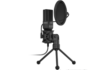 1.4m Computer Game Recording Condenser Microphone with Pop Filter & Tripod Stand