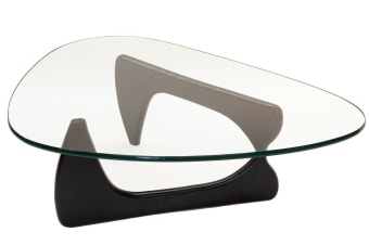 Replica Isamu Noguchi Glass Coffee Table | Black