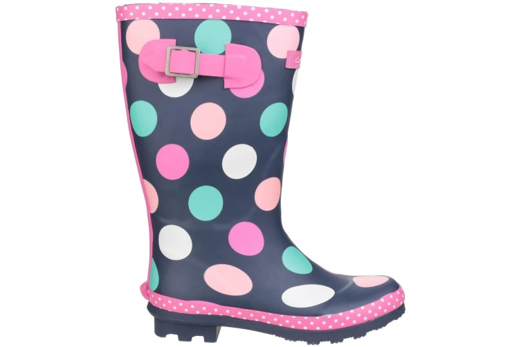 Cotswold Childrens Girls Dotty Spotted Wellington Boots (Multicoloured) (5 UK)