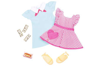 Our Generation Retro Hot Dog Vendor Doll Clothes
