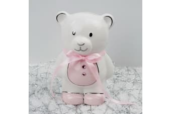 Baby Girl Teddy Money Box