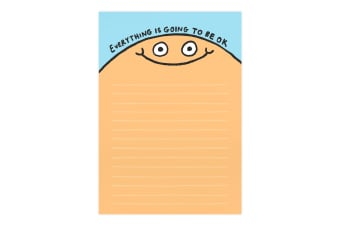 Ohh Deer Everything Is Going To Be Ok A5 Notepad (Blue/Beige) (One Size)