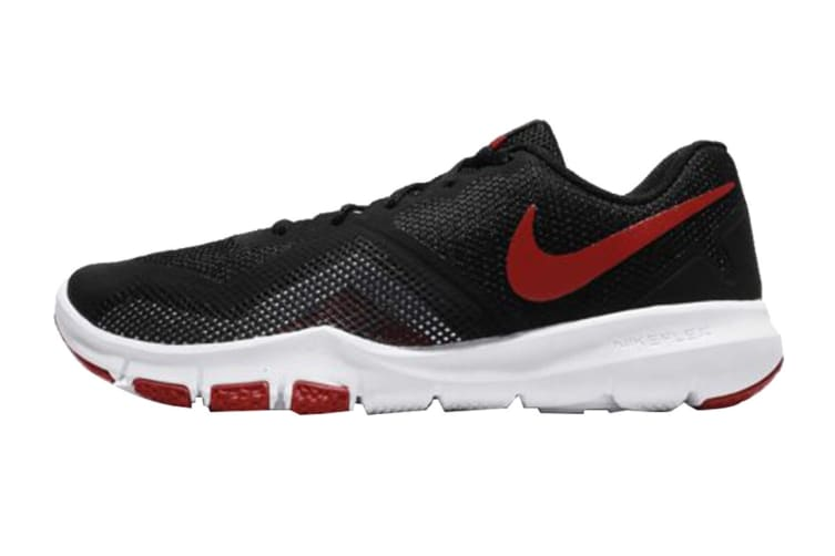 Nike Men's Flex Control II Shoes (Black/Gym Red/White, Size 9.5)