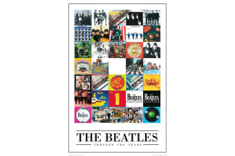 The Beatles Official Through The Year Poster (Multicolour)