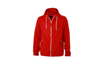 James and Nicholson Mens Sailing Jacket (Red/White) (3XL)