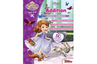 Disney Sofia the First - Addition Learning Workbook Level K