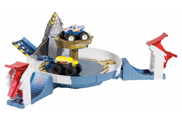 Hot Wheels Monster Trucks Mecha Shark Faceoff Playset