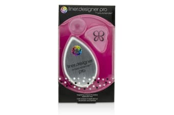 BeautyBlender Liner Designer (1x Eyeliner Application Tool, 1x Magnifying Mirror Compact, 1x Suction Cup) - Pro (White) 3pcs