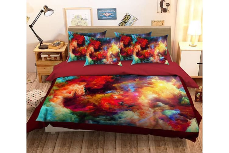 3D Colorful Smoke 164 Bed Pillowcases Quilt Duvet Cover Bedding Set Quilt Cover Quilt Duvet Cover, Queen