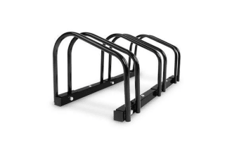 Portable 3 Bay Bike Parking Rack (Black)