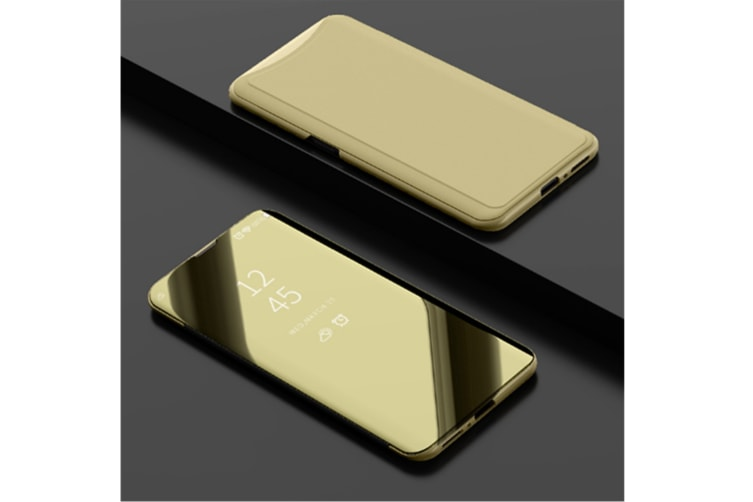 Mirror Cover Electroplate Clear Smart Kickstand For Oppo Series Gold Oppo F7