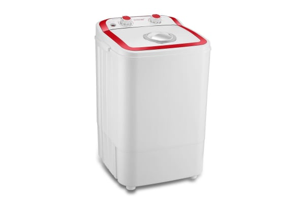 Maxkon 4.6KG Washing Machine Cleaner Mini Top Load Washer - Red/White
