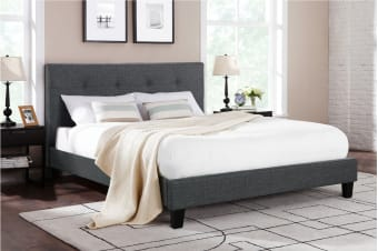 Ovela Bed Frame - Positano Collection (Dark Grey, Double)