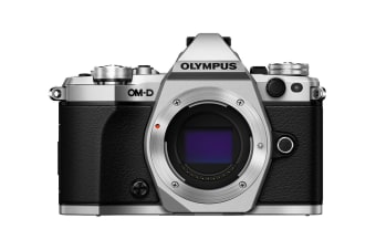 Olympus OM-D E-M5 Mark II Mirrorless Camera - Body Only (Silver)