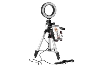New Hot Sale 5.7-inch Adjustable LED Ring Light With Tripod Net Red Live Light Supplement Mobile Phone Bracket