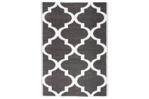 Coastal Indoor Out door Rug Trellis Black White 270x180cm