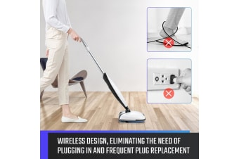 NEW 4 In 1 Electric Wireless Mop Spin Floor Cleaner Sweeper Polisher Scrubber