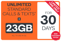 Kogan Mobile Prepaid Voucher Code: EXTRA LARGE (30 Days | 23GB) - NEW CUSTOMERS ONLY