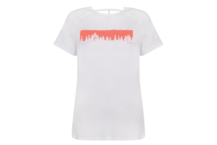 Dare 2B Womens/Ladies Astral Forest Cutout Neck T-Shirt (White) (14 UK)