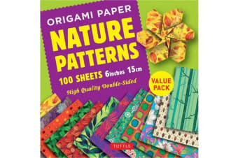 Origami Paper 100 sheets Nature Patterns 6 inch (15 cm): Instructions for 8 Projects Included - High-Quality Origami Sheets Printed with 8 Different Designs