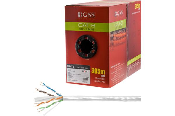 Doss 305M Cat6 Solid Cable White