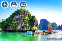VIETNAM & CAMBODIA: 12 Day Grand Tour for Two Including Flights