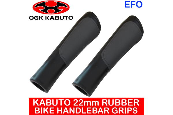 Ogk Kabuto 22Mm Rubber Handlebar Grips Mountain Road Bike Black Pair Sig-001K