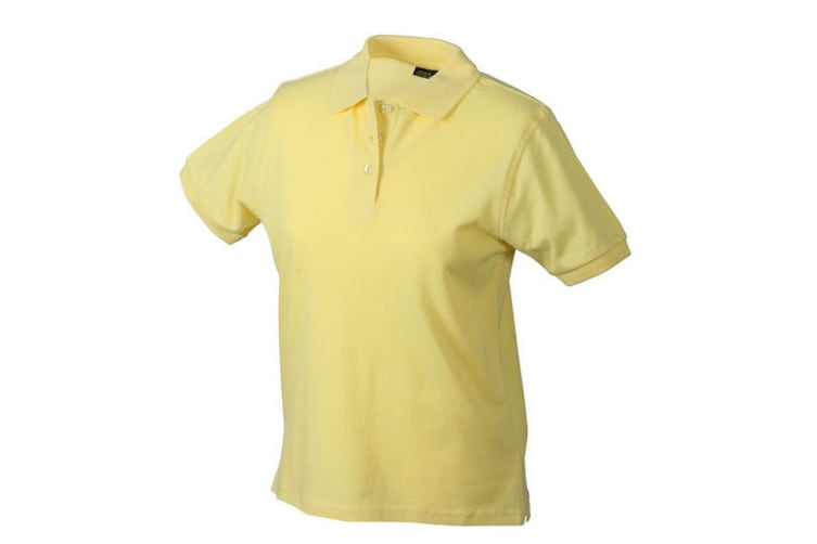 James and Nicholson Womens/Ladies Classic Polo (Light Yellow) (XXL)