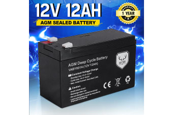 ATEM POWER 12AH AMP Hour Battery 12V AGM SLA Deep Cycle Dual Fridge Solar Power 12 VOLT