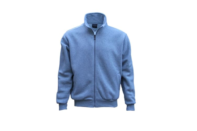 New Men's Adult Zip Up Hooded Casual Sports Sweat Shirt Jumper Hoodie Sweater - Light Grey