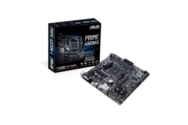 ASUS PRIME A320M-E mATX For AMD  Socket AM4 CPU