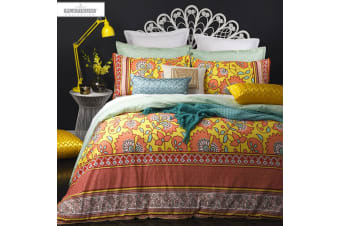 Aliya Coral Quilt Cover Set by Platinum Collection