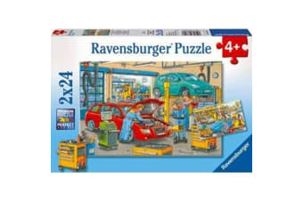 Ravensburger At the Service Station Kids Puzzle - 2 x 24 Piece