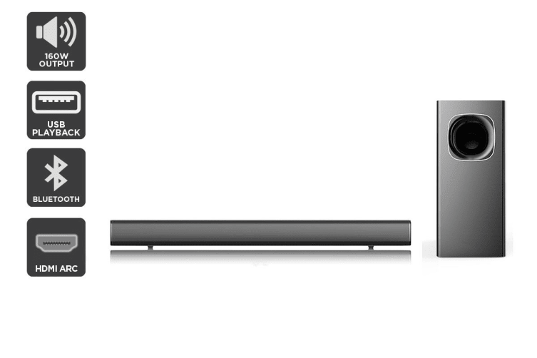 Kogan 2.1 Soundbar with Wireless Subwoofer (160W RMS)