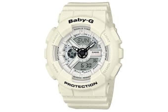 Casio Baby-G Female White Analogue/Digital  Punching Pattern Series Watch BA110PP-7A BA-110PP-7ADR