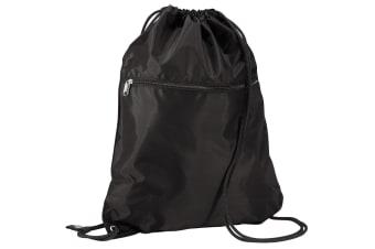 Quadra Premium Gymsac Over Shoulder Bag - 14 Litres (Black) (One Size)