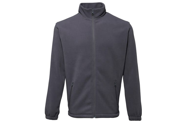 2786 Mens Full Zip Fleece Jacket (280 GSM) (Charcoal) (2XL)