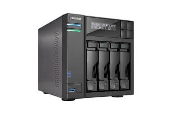 Asustor AS6404T NAS/storage server Ethernet LAN Black