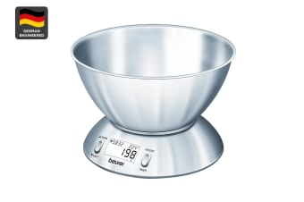 Beurer Digital Stainless Steel Kitchen Scale with Bowl (KS54)