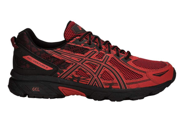 ASICS Men's Gel-Venture 6 Running Shoe (Rust/Black, Size 9.5)