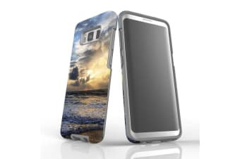 For Samsung Galaxy S8 Case Armour Cover  Wavy Sunset