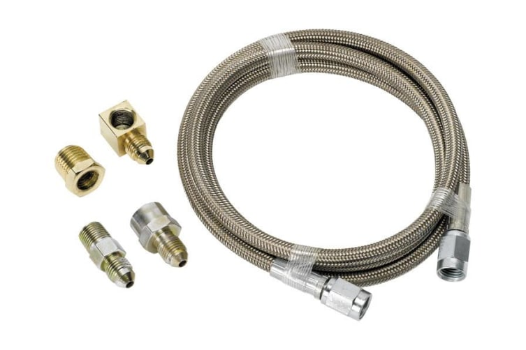 Aeroflow -4AN X 4Ft Braided SS Line Kit With Fittings Included