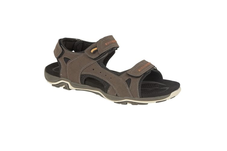 PDQ Mens Neoprene 3 Touch Fastening Sports Sandals (Brown) (9 UK)