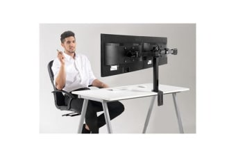 "Loctek DLB112 10""-30"" Double Monitor Ergonomic Swivel Arm VESA 75 & 100mm"