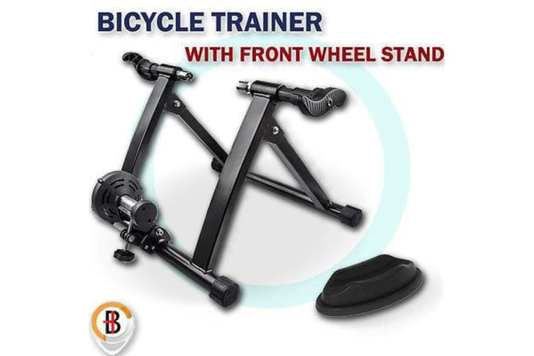 INDOOR BICYCLE TRAINER HOMEGYM EXERCISE BIKE FITNESS CYCLING W FRONT WHEEL STAND