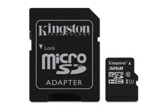 Kingston 32GB microSDHC Canvas Select 80Mb/s Class 10 UHS-I Card with SD Adapter